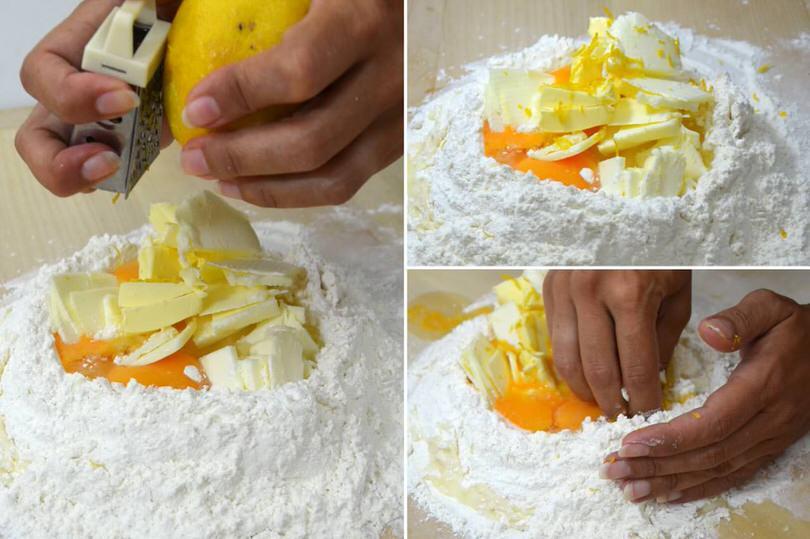 4 buccia di limone e lavorare