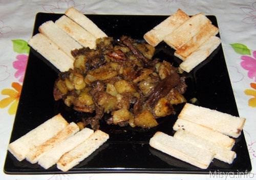 Patate e funghi porcini