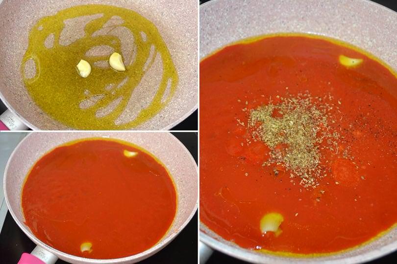 1 pomodoro aglio e origano