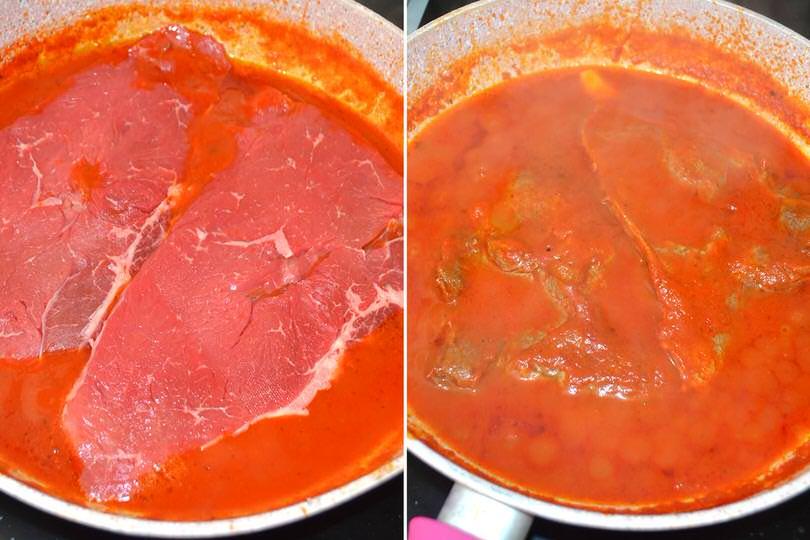 2 aggiungere carne