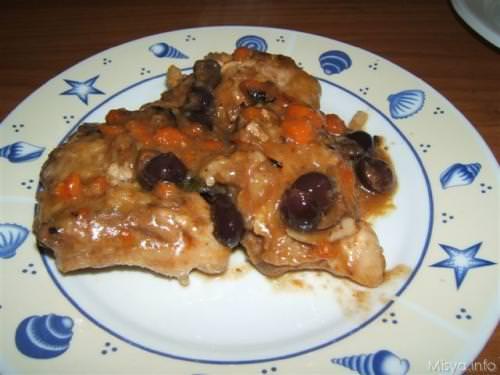 Pollo alle olive nere