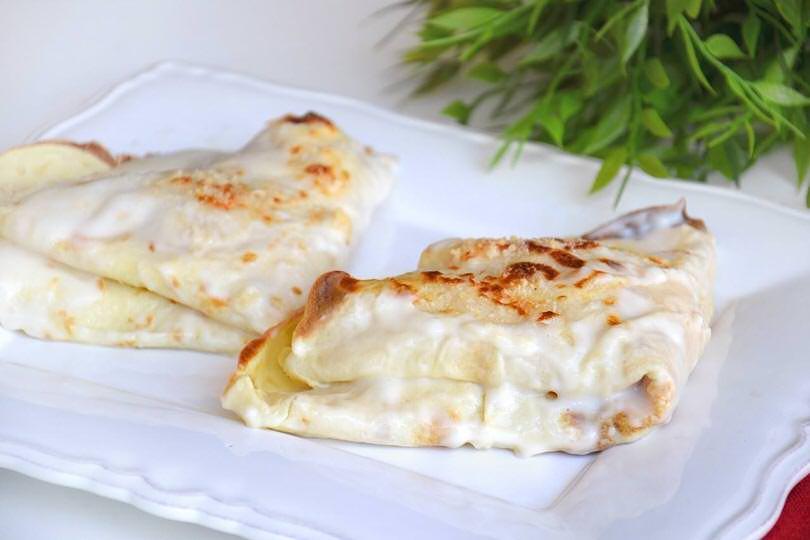 Crêpes prosciutto e mozzarella - Ricetta Crêpes prosciutto e ...
