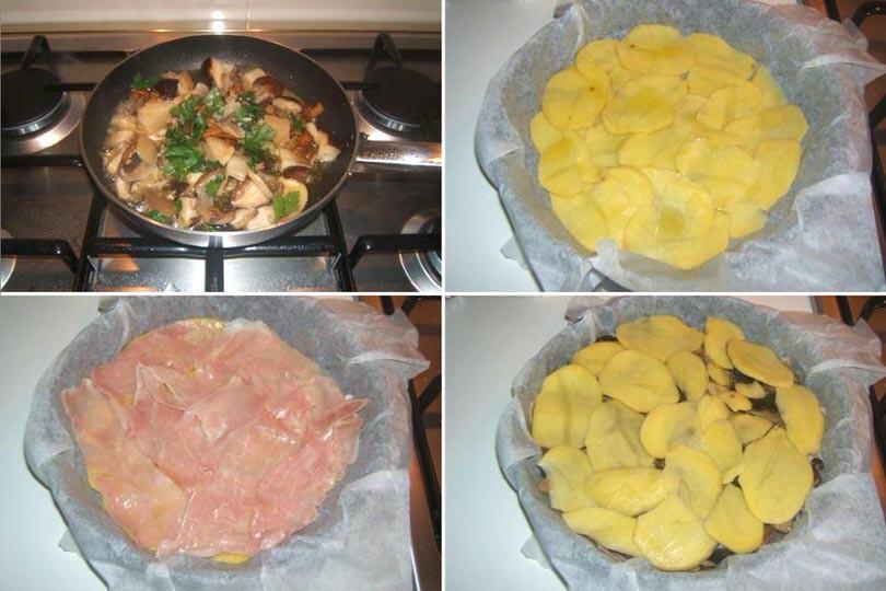 1 sistemare funghi e patate