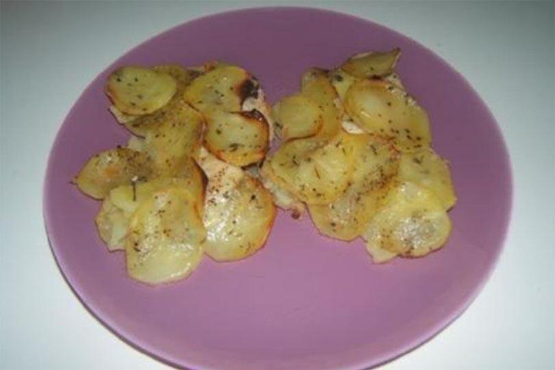 Filetti di cernia con patate