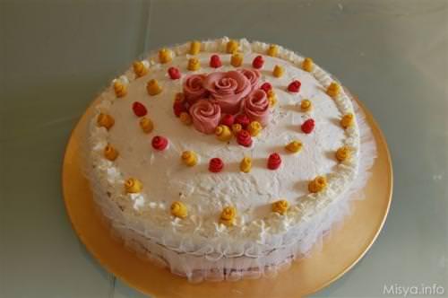 Torta di compleanno ricetta torta di compleanno di misya for Decorazioni per torta 60 anni