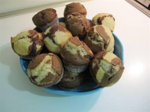 Muffin al cocco e Nutella