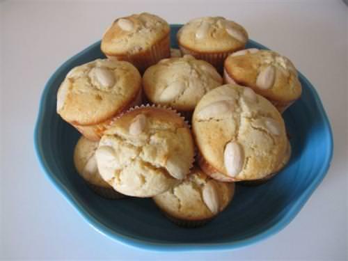 Muffin cioccolato bianco e mandorle