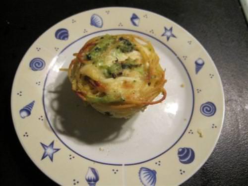 Timballini di pasta con i broccoli