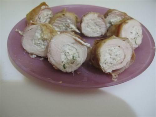 Involtini di pollo al philadelphia