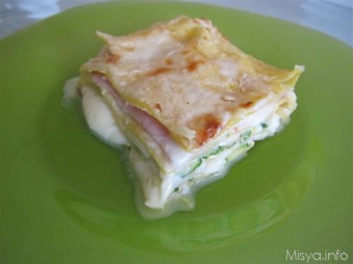 Lasagne bianche con zucchine