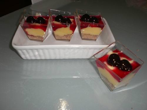 Dessert alla crema amarena e gianduia