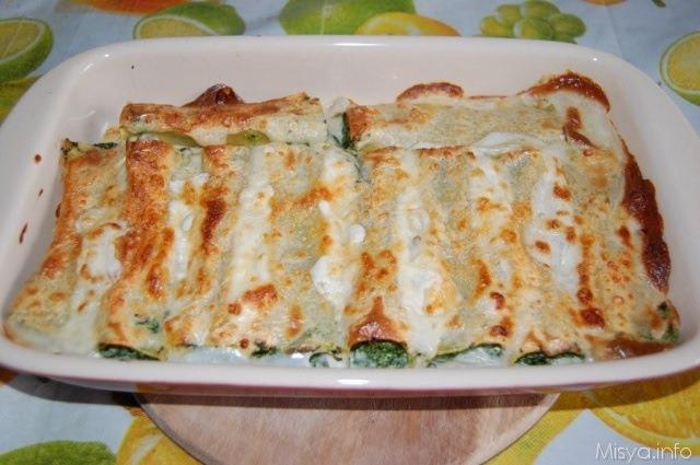 Cannelloni ricotta e spinaci