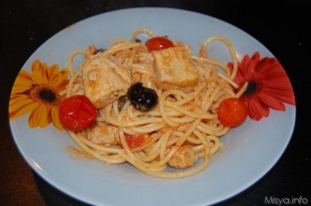 Spaghetti al ragù di tonno