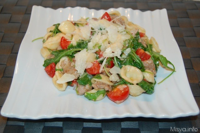 Ricetta light pasta con rucola