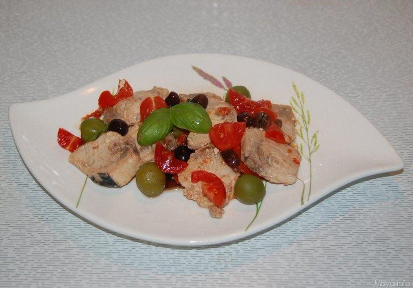 Bocconcini di pesce spada alle olive