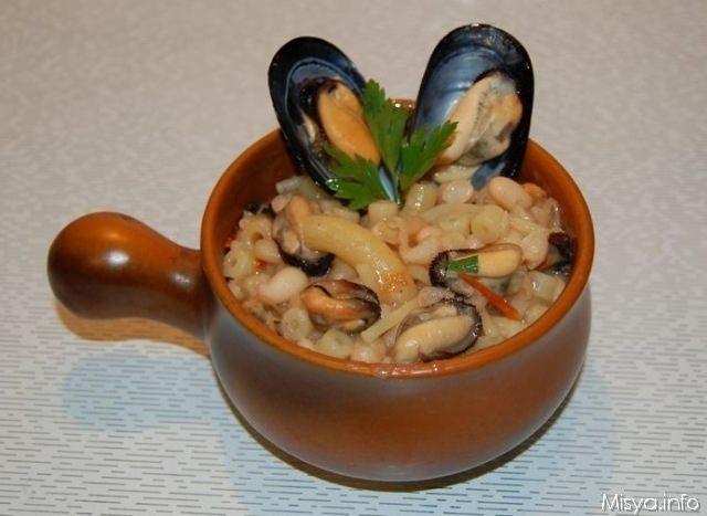 Ricetta pasta e fagioli con cozze surgelate