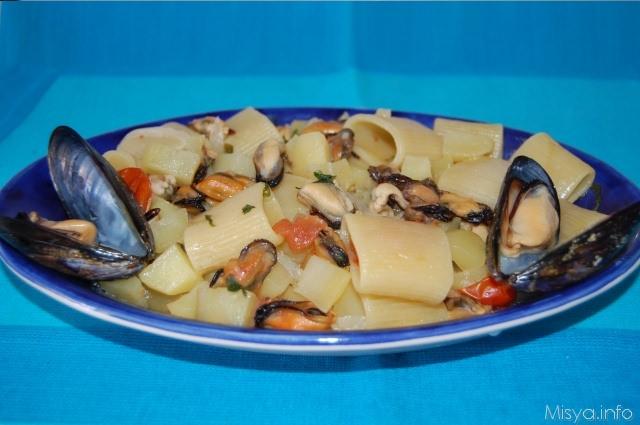 Ricette primi piatti con cozze e gamberetti