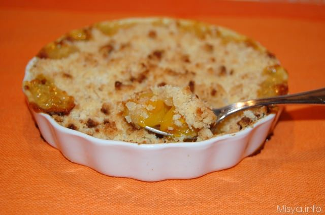 Crumble di pesche