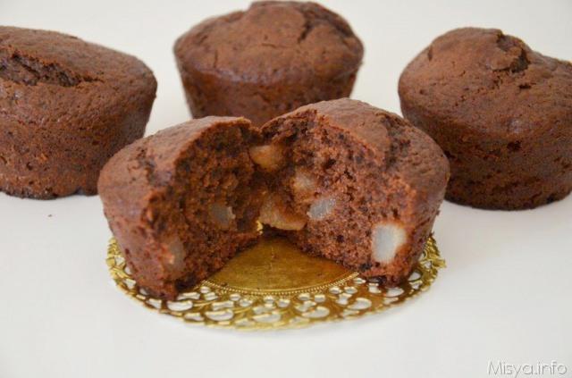 Muffin cacao e pere