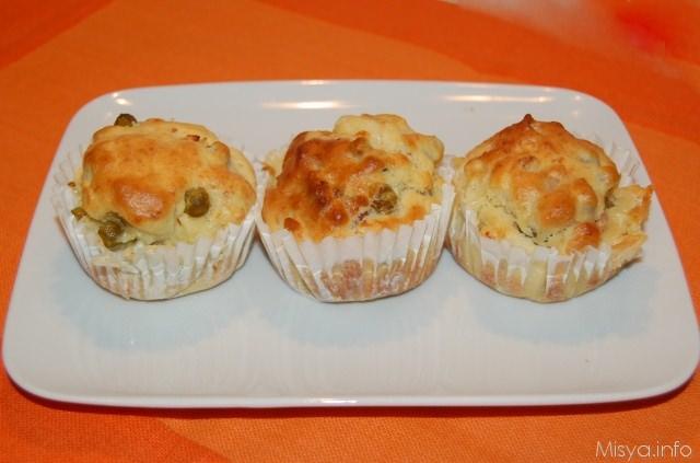 Muffin salati ai piselli