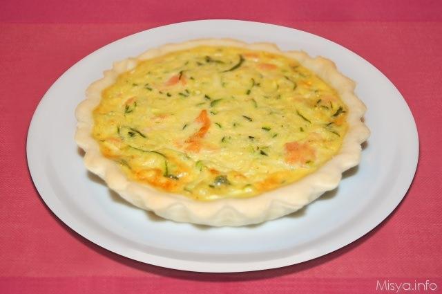 Ricetta torta salata zucchine salmone
