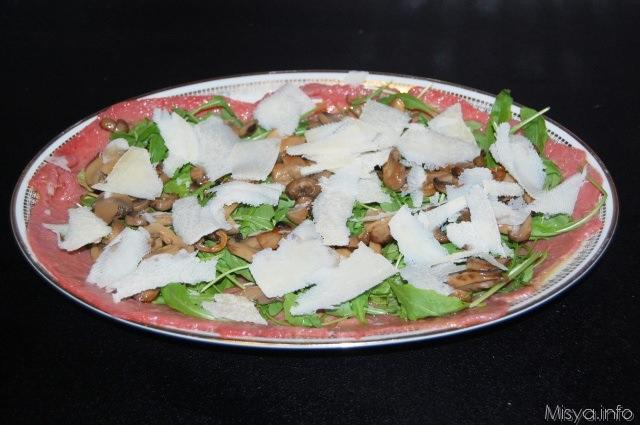 Ricetta carne cruda con funghi porcini