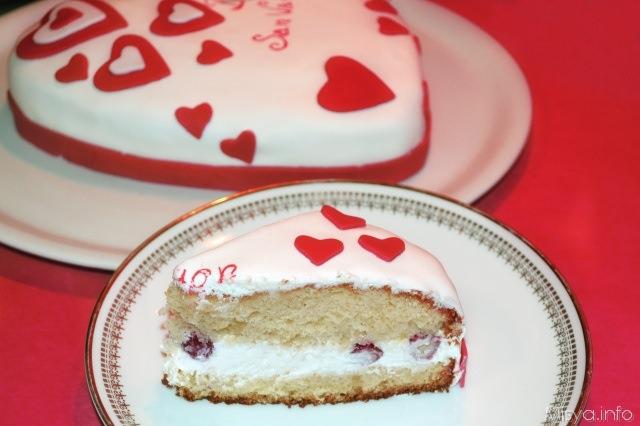 Torta di san valentino ricetta torta di san valentino di misya - Decori per san valentino ...