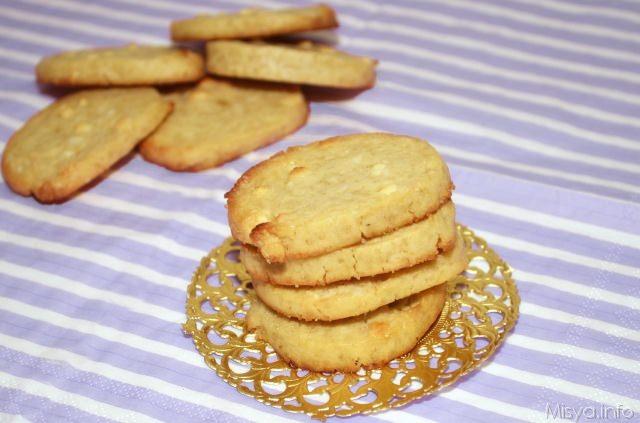Cookies al cioccolato bianco e mandorle