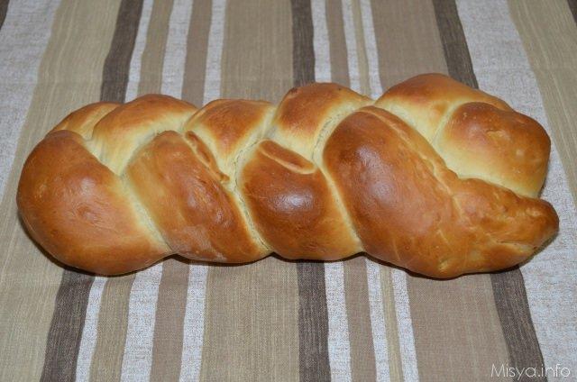 Treccia di pan brioche bimby