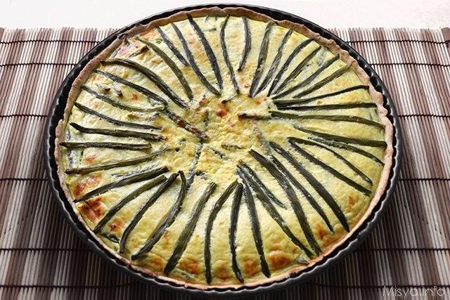 Torta salata con i fagiolini
