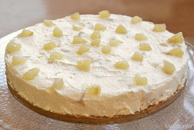 Cheesecake Ricotta E Pere Ricetta Cheesecake Ricotta E Pere Di Misya