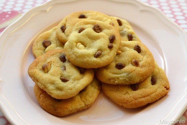 Cookies con gocce di cioccolato