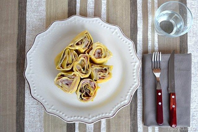piatto girelle di lasagne