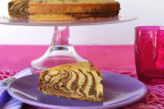 zebra cake fetta