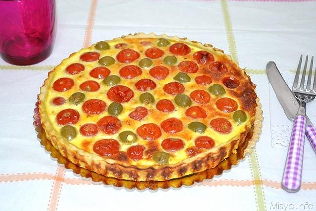 Ricetta Quiche Misya.Quiche Salata Ai Pomodorini E Olive Ricetta Quiche Salata Ai Pomodorini E Olive Di Misya