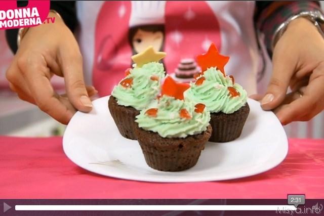 Videoricetta cupcake di Natale
