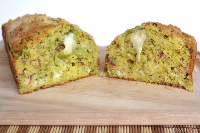 Plumcake salato salame e broccoli