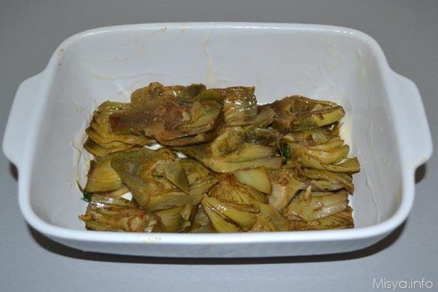 Parmigiana di carciofi bianca 5