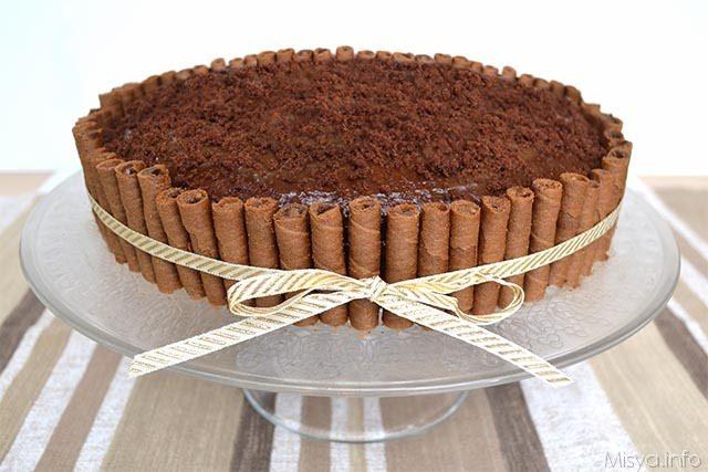 Torta al cioccolato e caffè