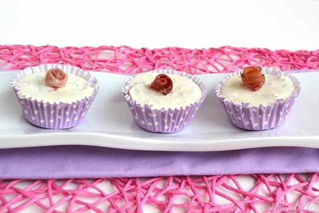 Cheesecake salate speck e pistacchi