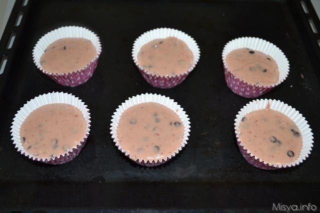 muffin cioccolato e fragole 9