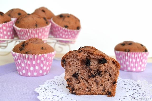 Muffin fragole e cioccolato