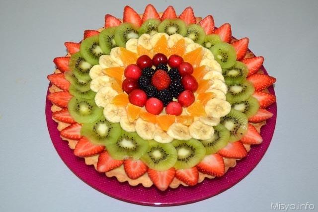 14 guarnire la crostata con frutta