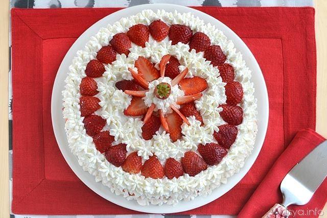 Torta alle fragole - Ricetta Torta alle fragole di Misya