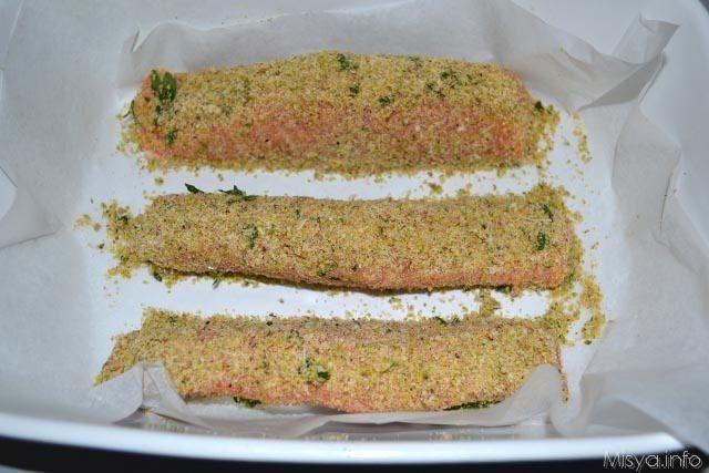 Filetto di salmone ai pistacchi 5
