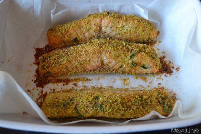 Filetto di salmone ai pistacchi 7