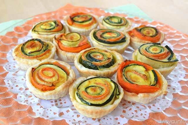 Mini quiche salate alle verdure
