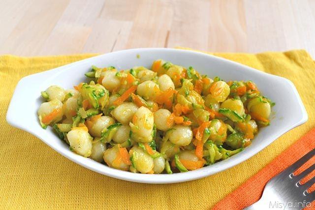 Gnocchetti con zucchine e carote