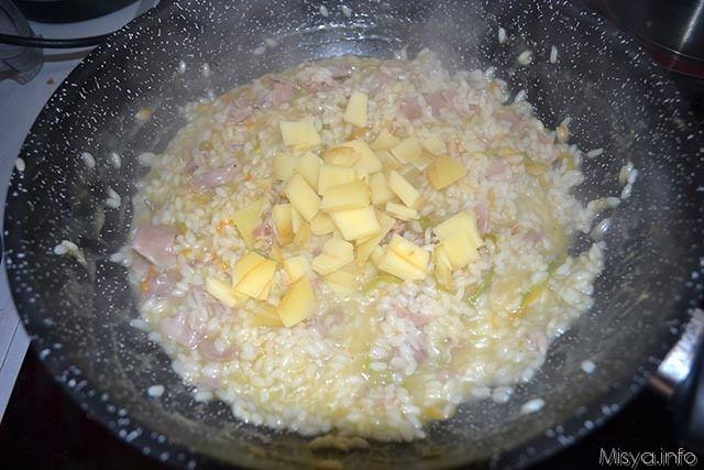 risotto ai fiori di zucca e prosciutto crudo 8