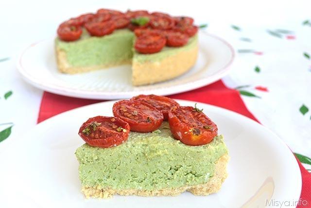 Cheesecake pesto pomodorini